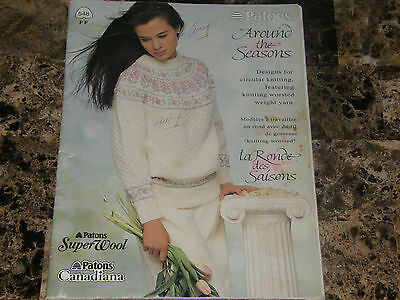 Vintage Patons Around the Seasons Designs for circular knitting pattern booklet