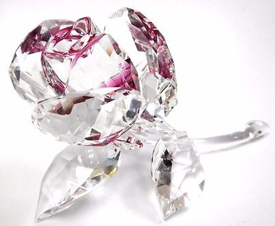 Blossoming Rose - Ruby Clear Crystal Love Flower 2017 Swarovski Crystal #5248878