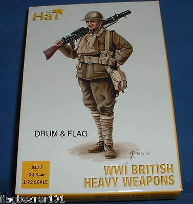 Hat 8177 Ww1 British Heavy Weapons - 1/72 Scale Plastic