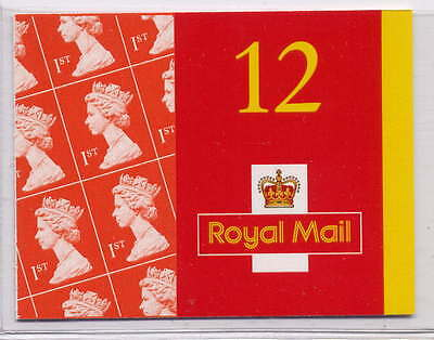 GB 2001 12 x Ist CLASS SELF ADHESIVE WALSALL BOOKLET MF2a