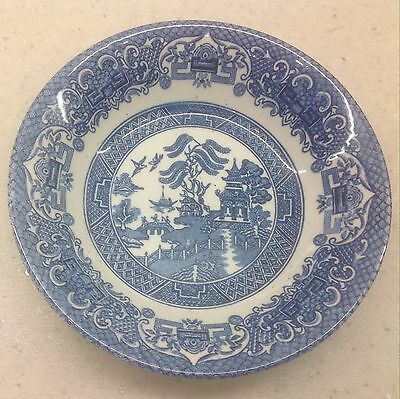 Old Willow Ironstone Vintage English Pottery Dish Bowl