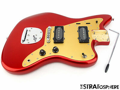 2017 Fender Squier Deluxe Jazzmaster LOADED BODY with Tremolo Candy Apple Red