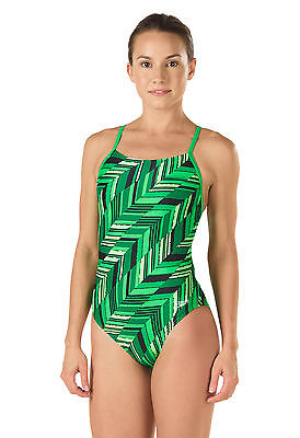 New Speedo Swimsuit Angles Free Back 100% Polyester Chlorine Resistant Size 28