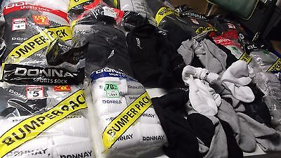 Joblot 140 Pairs Donnay  Sports Socks  Mixed Adult Trainers Wholesale Car Boot