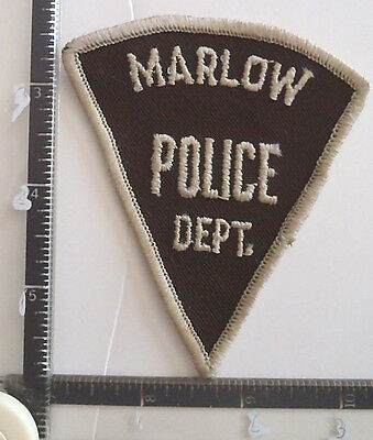 Marlow OK POLICE Patch OKLAHOMA old CHEESECLOTH