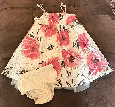 Baby Gap Toddler Girls Size 2T Ivory Pink Gray Sundress