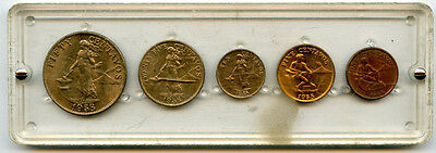 1958 Philippines 5 Coin Mint Set From Estate Starts @1.99