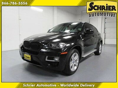 2013 BMW X6  13 BMW X6 Black Sunroof Leather AWD HID Power Lift Gate Heated Seats Heads Up