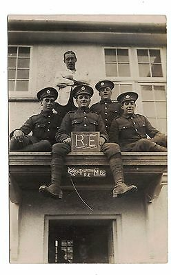 RP Postcard 4th Section, Royal Engineers. C.WW1. The Nibs
