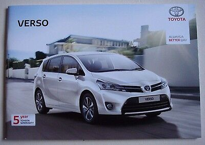 Toyota . Verso . August 2016 Sales Brochure