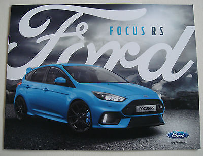 Ford . RS . Ford Focus RS . December 2015 Sales Brochure