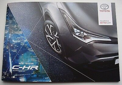 Toyota . C HR . New Toyota C-HR . January 2017 Sales Brochure
