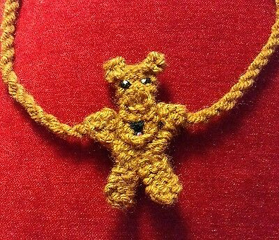knitted Welsh terrier necklace NEW !