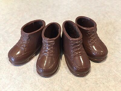 Vintage Action Figures Sunshine Family Dad Steve Brown Boots Shoes 2 pairs