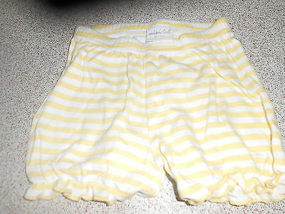 Mini Club Baby Girl 0-3 Months Yellow/white Striped Shorts (Ex Cond)