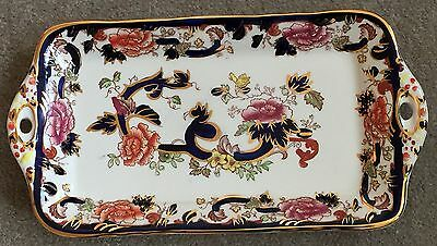 """Masons Blue Mandalay Sandwich Tray 12.5"""" Excellent Condition Never Used"""