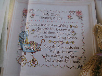 'Special Memories' Birth Sampler Cross stitch chart (only)