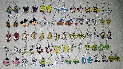 Cute Character EARRINGS Unwanted Great Party Bag Gift Disney Kids etc A