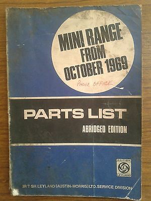 British Leyland Mini Range From Oct 69 G/c Body & Mechanical Parts Book Akd5306