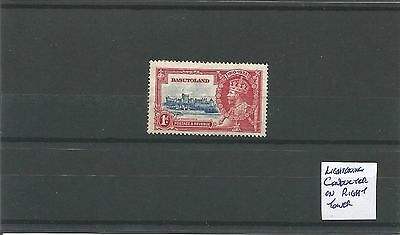 Basutoland 1d Jubilee with Pint Flaw Mint