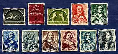 Netherlands 1943/44-Sc#245/261-Group Of 11-Used