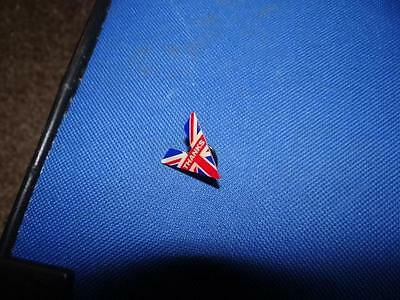 "Union Flag ""V Thanks"" Pin Badge-SUPPORTING ROYAL BRITISH LEGION"