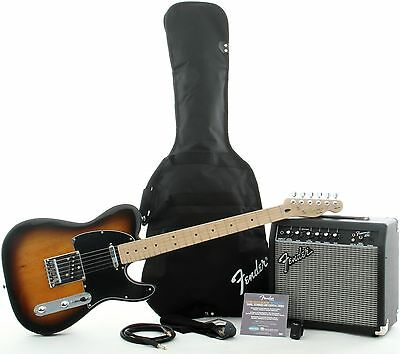 Squier Affinity Telecaster Electric Guitar Pack with Fender 15G Amplifier  NEW