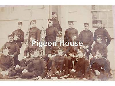 Photo Northamptonshire Regt / 48th Foot Officers in Patrols c1881