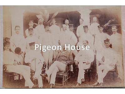 Photo Northamptonshire Regt. Officers in Whites & forage Caps c1890s