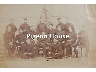 Photo Northamptonshire Regt. 48th Foot Officers in Patrols c1870s