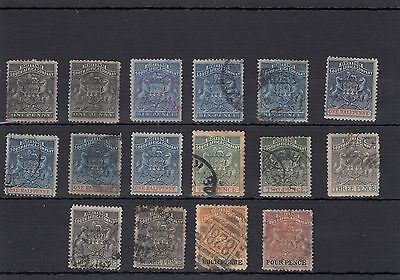 Rhodesia.b.s.a.company.16 -- Early Used Stamps On Stockcard