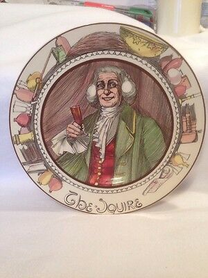 Vintage Royal Doulton Picture Plate D6284 The Squire. Great Condition.