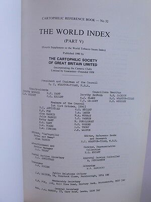 Cartophilic Reference.Book 32.World Index Part 5.World Tobacco Issues.Cards