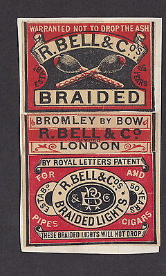 AE Old  Matchbox label  England   LLL6 Bell Braided