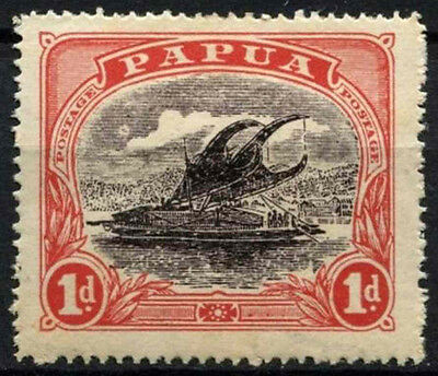 Papua 1916-31 SG#94bw 1d Grey-Black And Red MH #D44883
