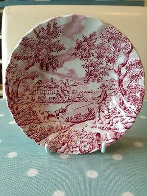 Vintage Myott. The Hunter. Small Dish In Pink. Great Condition.