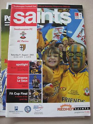 9.8.2003 Southampton v AC Parma Friendly
