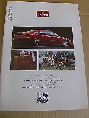 ROVER BUSINESS FILE  ADVERTISING LITERATURE  1993  #Rov02