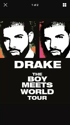 X 2 Seated Drake Tickets, The Boy Meets World Tour, Amsterdam,  28th March 2017
