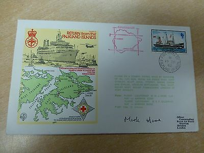 GB 1982 RAF/Royal Navy Falklands Task Force Cover Signed by Mark Hare