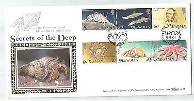 Isle Of Man 1994 Marine Life Benham Silk Limited Edition First Day Cover