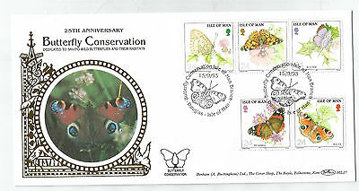 Isle Of Man 1993 Butterfly Benham Silk Limited Edition First Day Cover