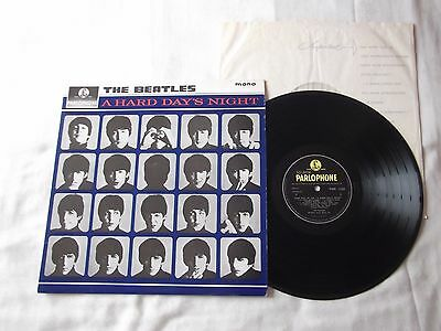 """The Beatles """" A Hard Day's Night"""" Original Mono Parlophone Yellow & Black Labels"""