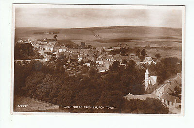 Auchenblae Village From Church Tower Kincardine 1894 Real Photograph Valentines