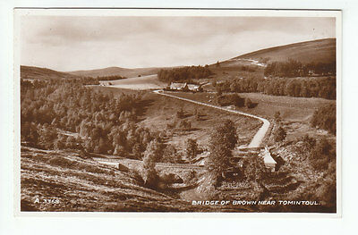 Bridge Of Brown C M Ross Post Office Tomintoul Banff 1935 Real Photograph