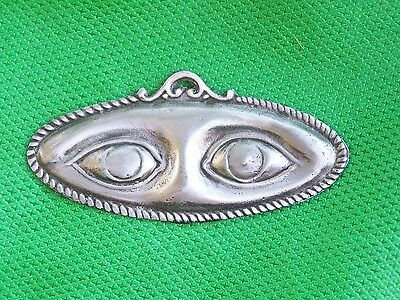 Large Tin/Silver Eyes Milagro Ex Voto
