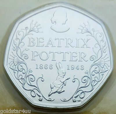 2016 BEATRIX POTTER UNC  50p Fifty Pence Coin