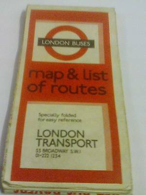 Vintage London Buses Map & List Of Routes