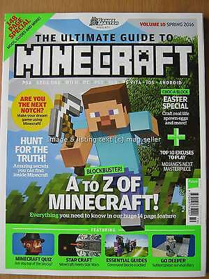 The Ultimate Guide to Minecraft Spring 2016 Volume 10 Games Master PS4 XBox PC