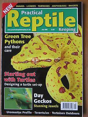 Practical Reptile July 2009 Green Tree Python Turtle Day Gecko Uromastyx Jewels